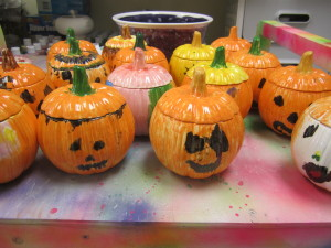 PAINTED PUMPKIN BOXES