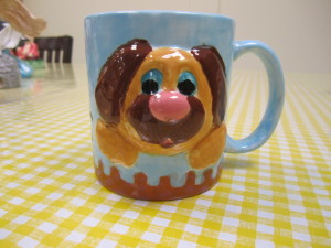 Painted Dog Face Mug