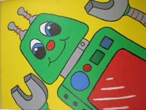 Painted Robot Canvass