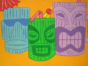 TIKI MUG CANVAS
