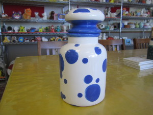 PAINTED LARGE APOTHECARY JAR