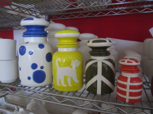 PAINTED OPTHECARY JARS